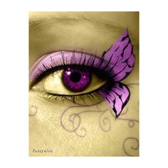 butterfly eye ❤ liked on Polyvore featuring beauty products, eyes and makeup