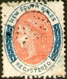 New South Wales registered stamp 1860