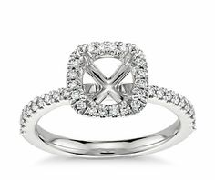 Arietta Halo Diamond Engagement Ring in Platinum Build Your Own Ring, Halo Diamond Engagement Ring, Blue Nile, Bling, Ring Settings, Accessories, Jewelry, Wedding, Clothes
