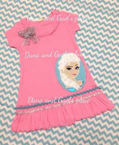 Cute Elsa from Frozen ruffle girl dress (also available sleeveless) on Etsy, $30.00