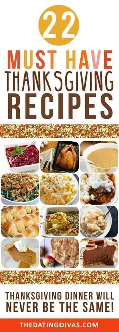 Top Thanksgiving day dishes & recipes Thanksgiving Traditions, Thanksgiving Parties, Thanksgiving Sides, Traditional Thanksgiving Food List, Hosting Thanksgiving, Thanksgiving Decorations, Happy Thanksgiving, Dating Divas, Holiday Recipes