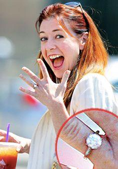 Alyson Hannigan Anniversary Engagement Ring