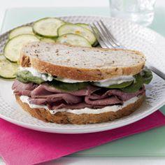 Roast Beef Sandwich with Horseradish Aioli   MyRecipes.com #MyPlate #protein #grain