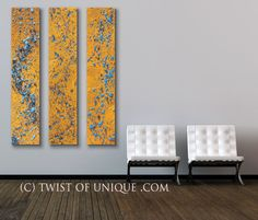 Textured Abstract painting  CUSTOM 48x10 panel by TwistOfUnique, $195.00 Cool art panels.  Lots of colors/patterns!