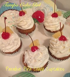 Its hot, tropical temperatures and I think it's time for a Piña Colada in the form of a cupcake. Escape to this yummy cupcake and your tastebuds will be transported to delightful…