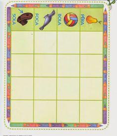 Ensinando com Carinho: Bingo de palavras nas cartelas