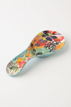 Painted Amaryllis Spoon Rest   Anthropologie.com