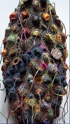 Circle of Memories 2, 2009, machine and hand stitched felt, 10''x42'', by Gordana Brelih