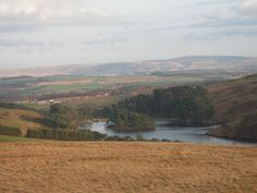 Glencorse reservoir from Phantom's Cleuch in the Pentland Hills