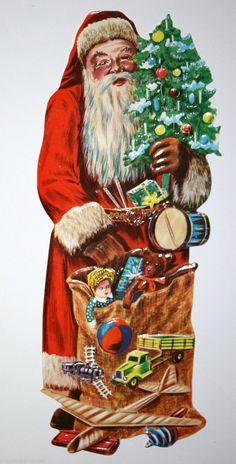 Grand ancien occasionnel père Noël, Costume 32 CM-la CUT scraps in Sammeln & Seltenes, Büro, Papier & Schreiben, Papier & Dokumente, Oblaten & Glanzbilder, Vor 1960 | eBay