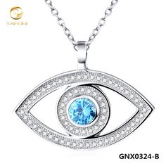 NEW 925 Sterling Silver Evil Eye Necklace Fashion Jewelry Charm Pendant Necklace For Women Collares Mujer GNX0324-B #Affiliate