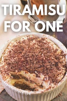 Easy Tiramisu recipe made with coffee-dipped ladyfingers (store-bought or homemade) surrounded by a lightly sweetened, creamy, egg-free filling. This wonderful no bake Italian dessert can be ready in minutes!