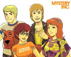 Scooby Doo, Fred, Shaggy, Velma and Daphne the Mystery Inc. Old Cartoons, Classic Cartoons, Retro Cartoons, Adult Cartoons, Futurama, Cartoon Shows, Cartoon Characters, Velma Scooby Doo, Scooby Doo Mystery Incorporated