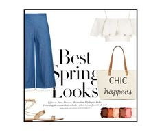 """""""Chic happens"""" by dreamyclassy ❤ liked on Polyvore featuring H&M, Topshop, NYX, Gianvito Rossi and Straw Studios"""