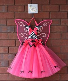 Hairbow holder Inspiration, fairy winged tutu bowholders with beautiful designs and butterfly wings