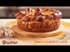 Reteta Pasca cu branza si stafide traditionalau hI Easter Cookies, Easter Recipes, Camembert Cheese, Nutella, Muffin, Baking, Breakfast, Ethnic Recipes, Desserts
