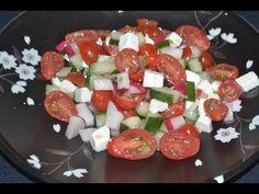 Ensalada de pepinos, tomates, rabanos y queso - YouTube