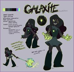 Galaxite. General of the Geminoids.She´s the cruelest gem  the Crystal Gems know, worse than Jasper. Hobbys? Destroying the Crystal Gems