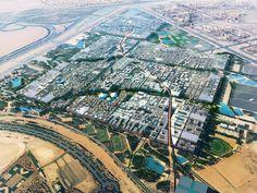 Lorsqu'elle sera terminée, la ville de Masdar City (ici en image de synthèse), à Abou Dhabi, dans les Émirats arabes unis, pourra accueillir 40 000 hab...