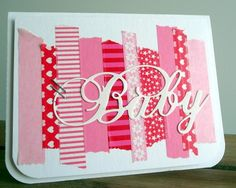 Cute baby card with washi tape