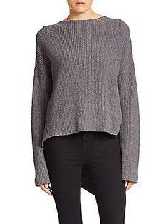 Brochu Walker Thandee Ribbed Asymmetrical Sweater