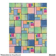 Watercolors Fleece Blanket