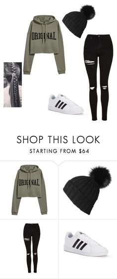"""@ayakayrzhan"" by ayakayrzhan ❤ liked on Polyvore featuring GCDS, Topshop, adidas Originals and Chanel"