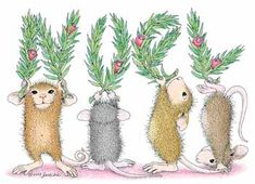 """Happy Holidays."" from House-Mouse Designs�"
