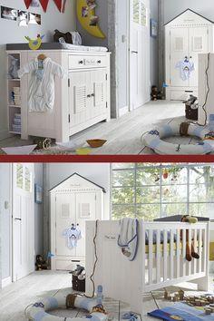 Babyzimmer weiß modern  Maritimes Babyzimmer in neutralen Farben mit passendem Zubehör ...