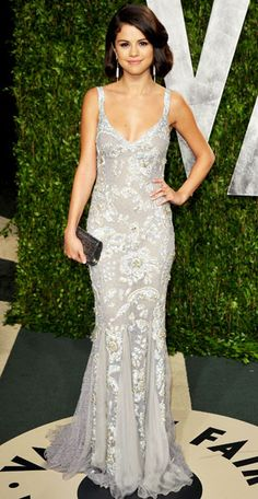 Selena Gomez at the Vanity Fair Oscar party '12 // #DolceandGabbana