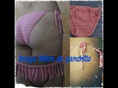 BRAGA BIKINI DE GANCHILLO 2º MODELO - YouTube