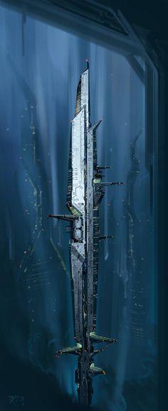 """Crystalline Building"" by #BartolRendulic.  #sciencefiction #scifi"