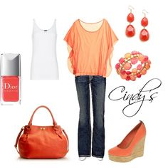 Spring, Polyvore, created by cindycook10 on Polyvore