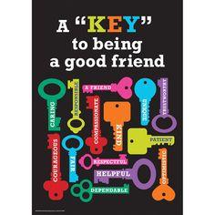 Key to Being a Good Friend Classroom Poster | Eureka School