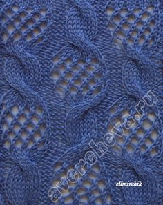 Russian site w/beautiful stitch patterns. Lots of knit & lace combinations and many with charts.
