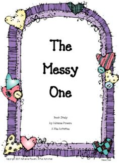 This is packet designed for use with the book The Messy One . The book is written by Christianne Jones and illustrated by Juana Martinez-Neal. This book is about a girl named Vivienne who is happy about being messy, until she loses her her favorite necklace in the mess.