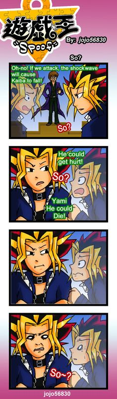 in Yugioh: Capsule Monsters, Yugi can wear Dual monsters as Armor, and Kaiba wasn't around to see him use the Blue eyes white dragon he would be sooooo jealous!