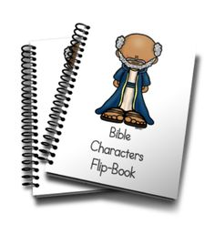 This fun mini flip book is perfect for any Sunday School or preschool class to 12 Bible Characters from the Old and New Testament. Kids Church Lessons, Bible Lessons For Kids, Sunday School Lessons, Bible For Kids, Bible School Crafts, Preschool Bible, Bible Crafts, Preschool Class, Bible Story Book