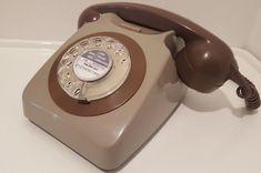 Original Vintage Retro 1970's GPO 746 Rotary Dial Grey Telephone Restored