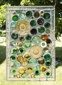 The Art Of Up-Cycling: Bottle Ideas-Upcyclng Ideas For Wine Bottles- Jars - Beer Bottles- bottle crafts wall Bottles And Jars, Glass Bottles, Beer Bottles, Cut Bottles, Cutting Wine Bottles, Bottle Cutting, Beer Bottle Crafts, Wine Bottle Art, Bottle Wall