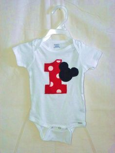 Infant Baby Toddler Mickey Mouse Onsie Tshirt First by SedonaStyle, $18.00