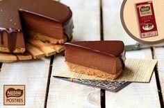 Tarta de queso y chocolate con cobertura de chocolate