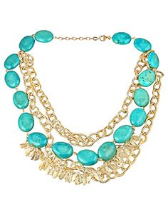 K. Amato Gold & Turquoise Necklace