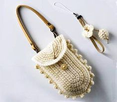 How to Crochet Mobile Cell Phone Pouch for iPhone Samsung - Crochet Ideas Bag Crochet, Crochet Handbags, Crochet Purses, Love Crochet, Crochet Gifts, Crochet Yarn, Crochet Stitches, Crochet Phone Cover, Bag Patterns