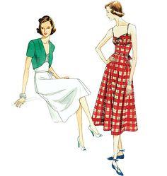 Misses' Dress, Belt and Bolero