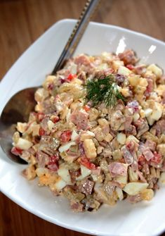 sio-smutki! Monika od kuchni: Sałatka chłopska Polish Recipes, Polish Food, Potato Salad, Cake Recipes, Potatoes, Food Cakes, Healthy, Ethnic Recipes, Party