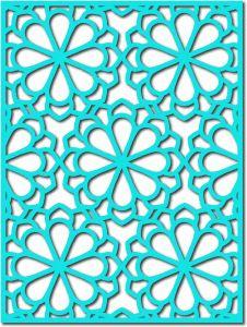 Silhouette Design Store - View Design #54602: flower lattice