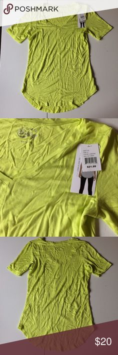 NWT Lime Long & Lean Tee Brand new with attached tags. Retail $21.99. Available in sizes small and large. Also have size 3X in a separate listing. Tops Tees - Short Sleeve