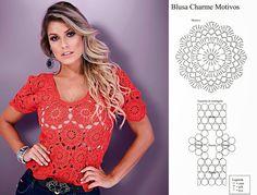 Vida, natureza e artesanato!: Lindas blusas de crochet