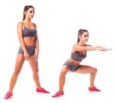Sumo Squats - 8 Simple Exercises to Get Rid Of Saddlebags for Women